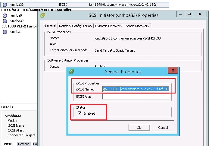 Sofware iSCSI-A general system error occured